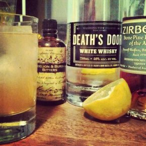 White Whiskey Stone Pine Sour