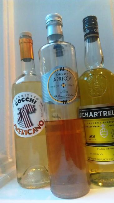 Chartreuse, Cocchi Americano, Rothman and Winter Apricot